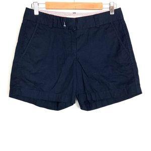 J. Crew Navy Blue Chino ( Broken) Shorts size 2